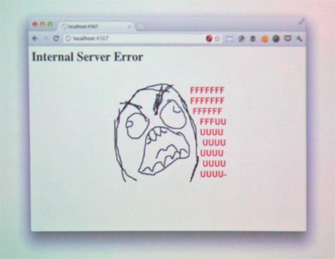 と思ったら、Internal Server Errorでストレスがマッハ!!