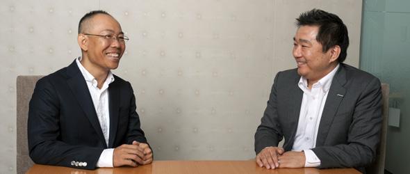吉川氏と新野氏写真