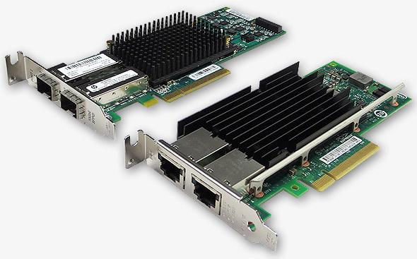 10GbE対応のNICの製品例