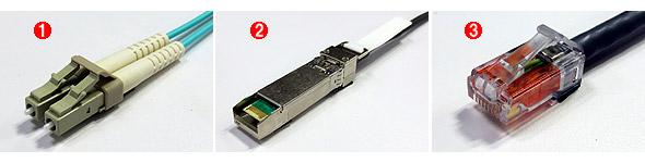 図8「サーバルーム向け10GbEのコネクタ&ケーブル比較」