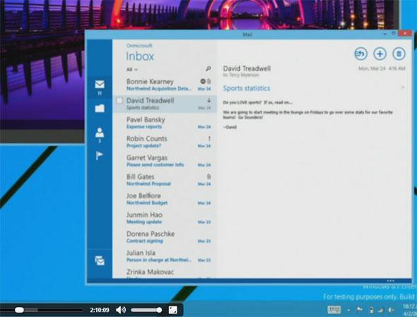 ユニバーサルWindowsアプリはウィンドウ形式で実行可能