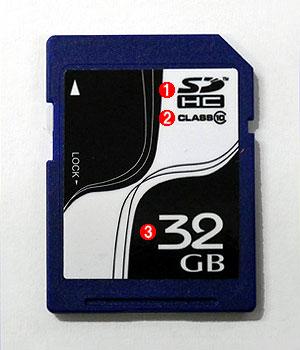 SDHCのSDカード