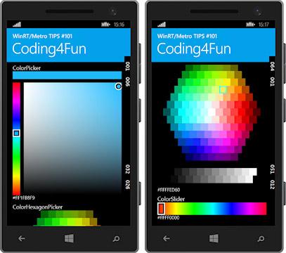 本稿のサンプルを実行している画面(上:Windows 8.1/下:Visual Studio 2013付属のWindows Phoneエミュレーター)