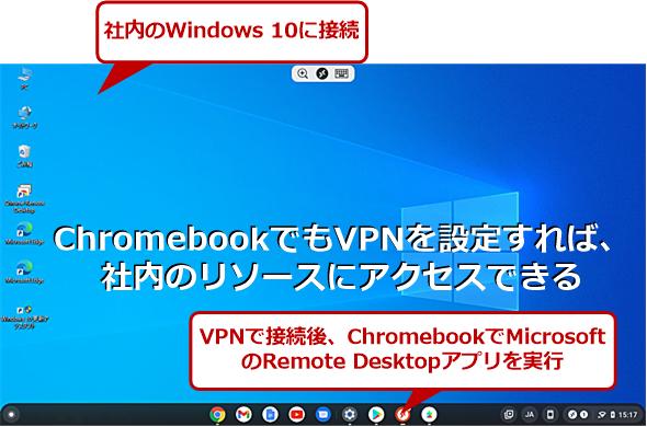 ChromebookでVPN接続を行う