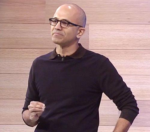 Build 2015の初日の基調講演に登場したMicrosoft CEOのサティア・ナデラ氏