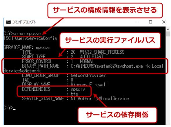 scコマンドでwindows osのサービスを確認 一覧 開始 停止する tech