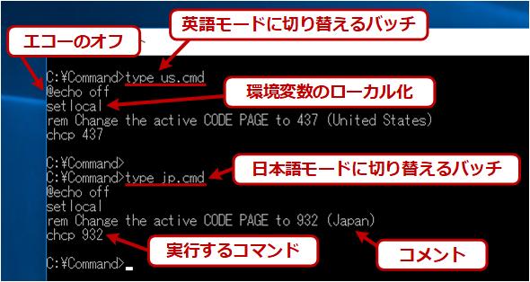 バッチファイルの例