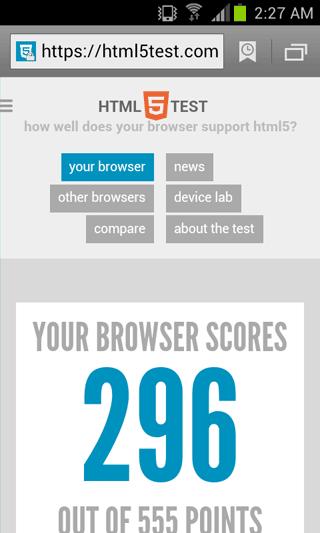 AOSPブラウザーでは最新のWeb技術の実装が遅れがちだった