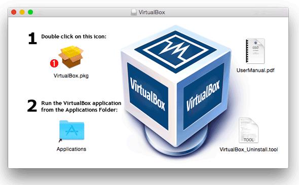 VirtualBoxのインストーラーの画面