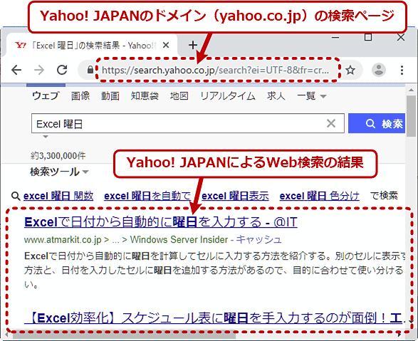 ChromeでYahoo! JAPANを使って素早く検索する(3/3)