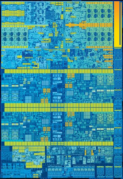 第6世代Coreプロセッサー(Skylake)のダイ写真