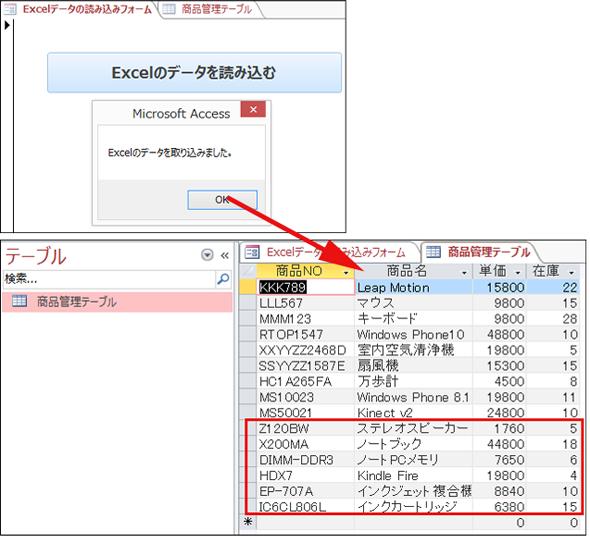 DoCmd.TransferSpreadsheetメソッドでExcelシートのデータをAccessデータベースに ...