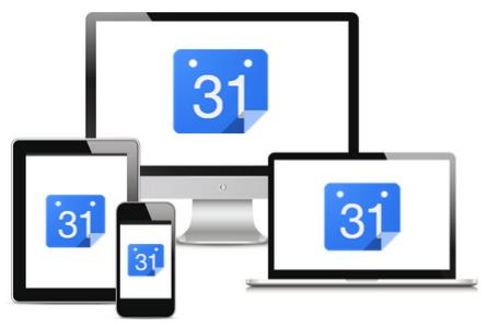 Googleカレンダーへはパソコンだけでなくスマートフォンやタブレットからもアクセスできるできるだけなくデバイス間でのデータの同期は自動で行われる。