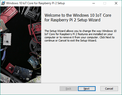 Windows 10 IoT Core for Raspberry Pi 2 Setupツール