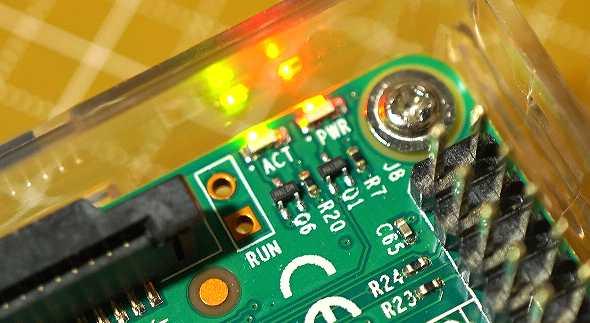 ボード上のACT LED