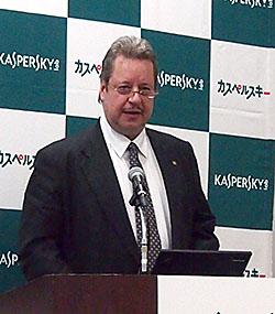 カスペルスキー 情報セキュリティラボ 所長 ミヒャエル・モルスナー氏