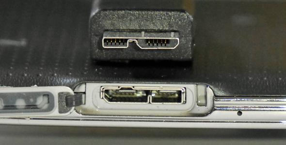 USB 3.0のMicro-Bコネクタ
