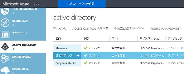 Azureポータル管理画面