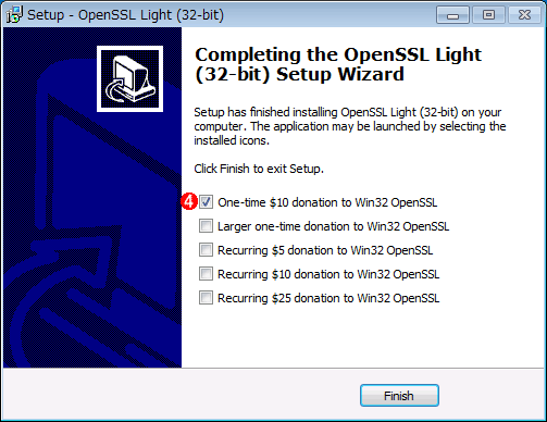 OpenSSLをWindowsにインストールする(その4)