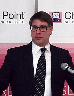 チェック・ポイント・ソフトウェア・テクノロジーズ 社長のピーター・ハレット氏