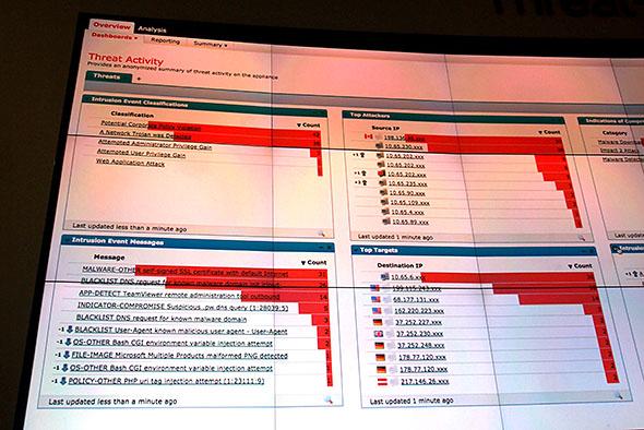 シスコシステムズのツールによるライブトラフィックの可視化