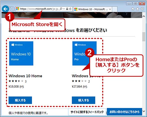 Windows 10のプロダクトキーはオンラインで購入可能