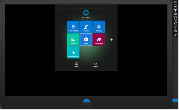 図2 Microsoft HoloLens Emulatorの画面