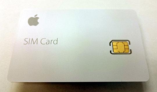 複数のプリペイド型サービスが選択可能なApple SIMカード