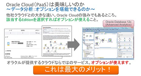 Oracle Cloudの最大のメリット。他社クラウドとの大きな違い