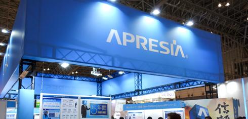 Interop Tokyo 2016の「APRESIA」ブース
