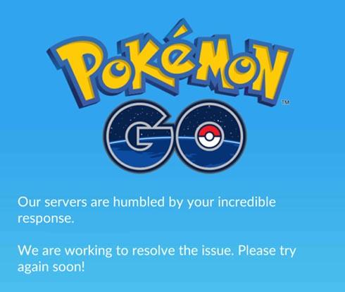 Pokemon GO サーバダウン中の画面