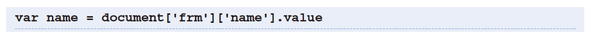 formとelementsでname属性の値を指定