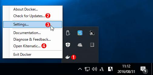 Docker for Windowsアイコン
