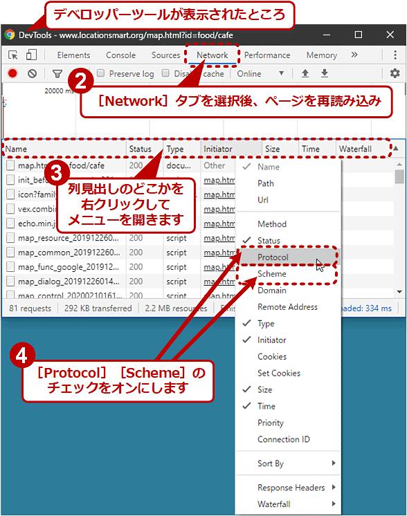 Chromeのデベロッパーツールで通信中のプロトコルやスキームを確認する(1/2)