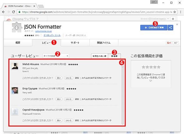 拡張機能「JSON Formatter」をChromeにインストールする