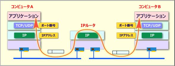 TCP/UDPとIPの役割