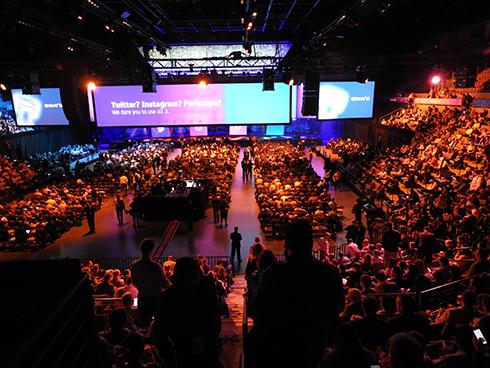 「CA World'16」基調講演会場の風景