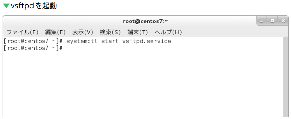 クライアント linux ftp