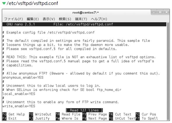 /etc/vsftpd/vsftpd.conf