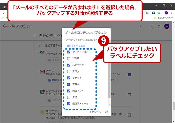 Gmailのメールデータをバックアップする(7)