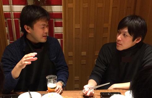 食事もそっちのけでお互いの知見を戦わせる市田氏と吉川氏