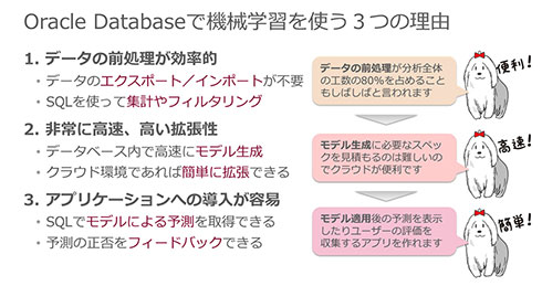 Oracle Databaseで機械学習を使う3つの理由
