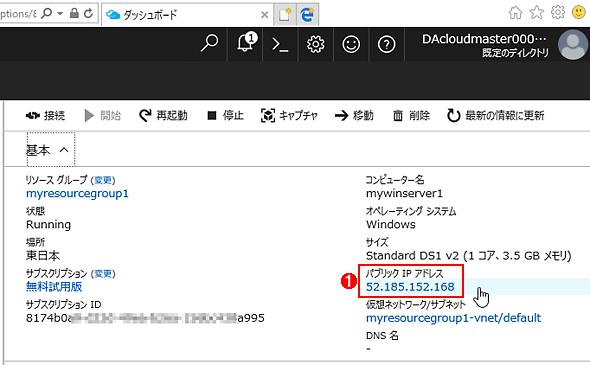 Azure仮想マシンのIPアドレス情報