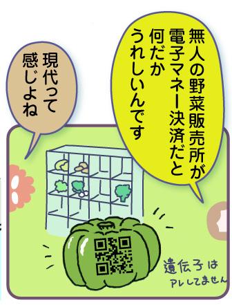 無人の野菜販売所が電子マネー決済だと何だかうれしいんですよね。未来っぽい!