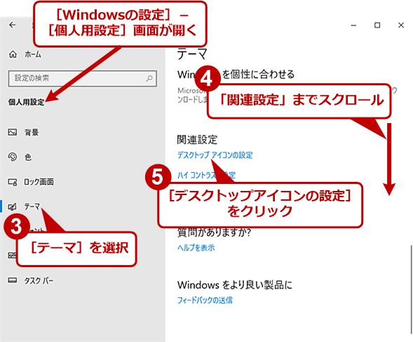 デスクトップにアイコンを表示する(2)