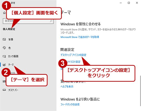 デスクトップにアイコンを表示する(1)