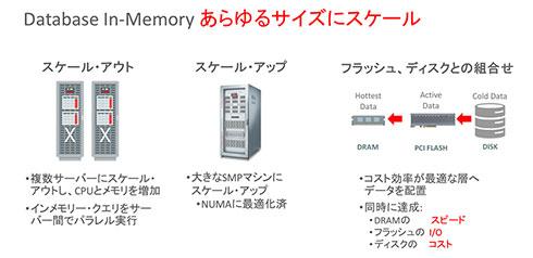 あらゆるサイズにスケールできるDatabase In-Memory