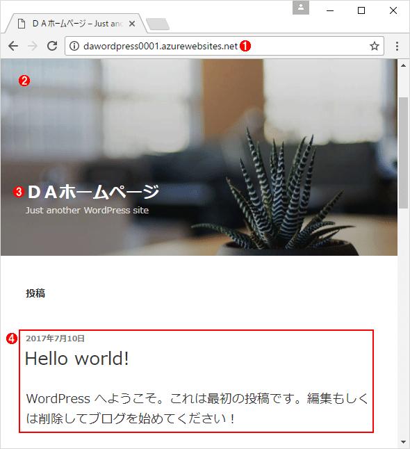 作成したWordPressのサイトの例