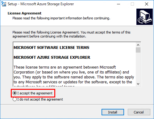 Azure Storage ExplorerをWindowsにインストールする