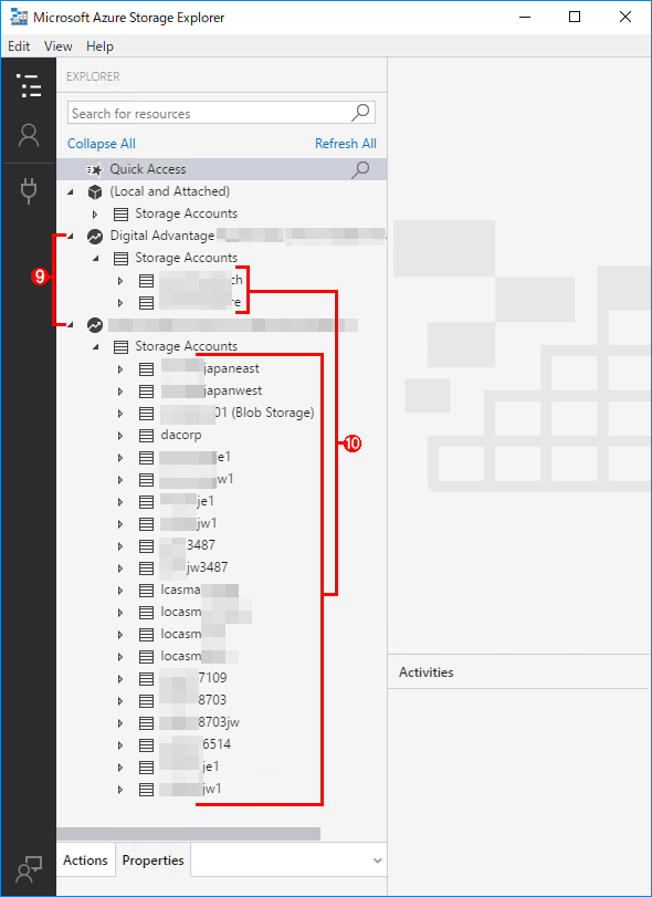 ユーザーアカウントを指定してAzure Storageに接続する(5/5)